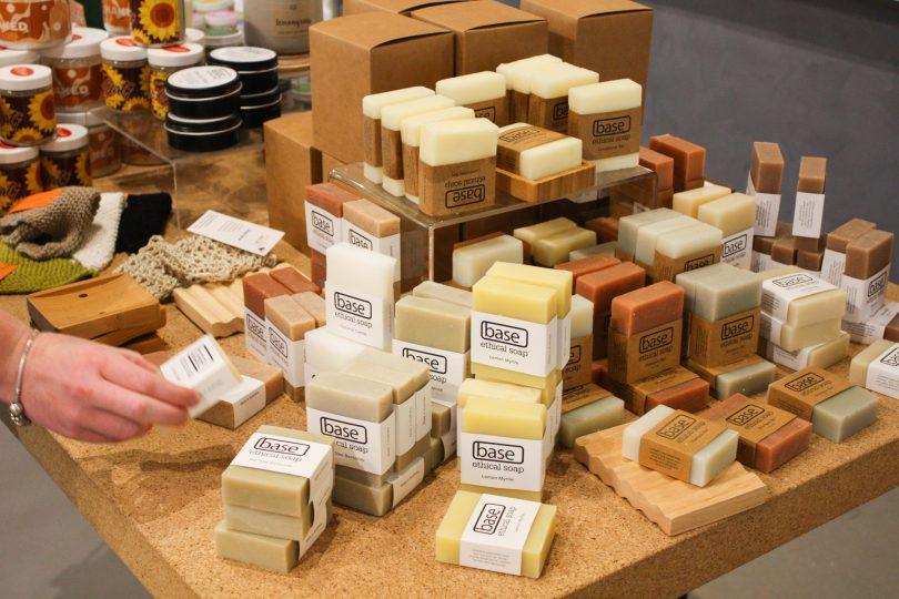 Range of Base Ethical Soap at POP Canberra