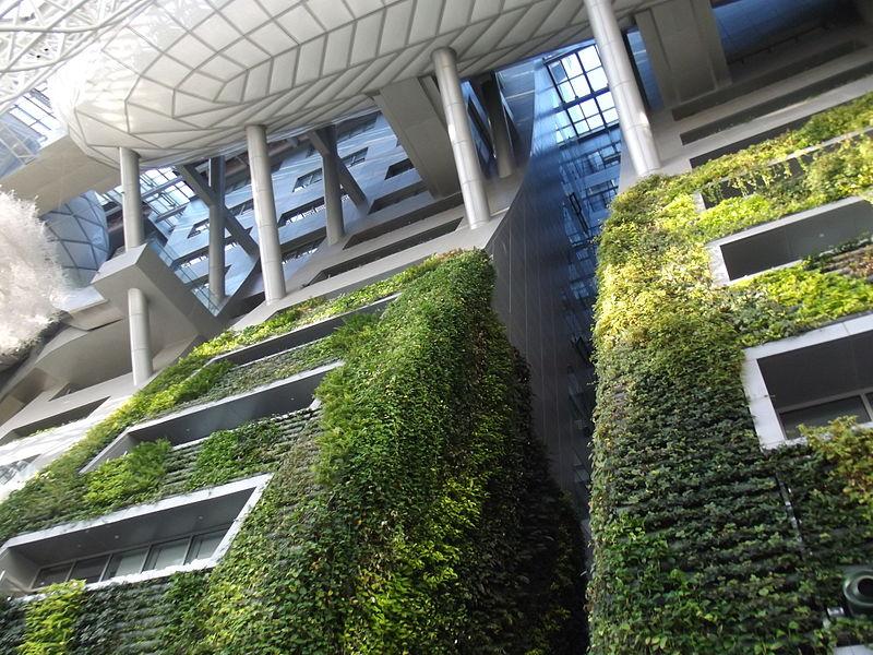 Green wall at Seoul City Hall