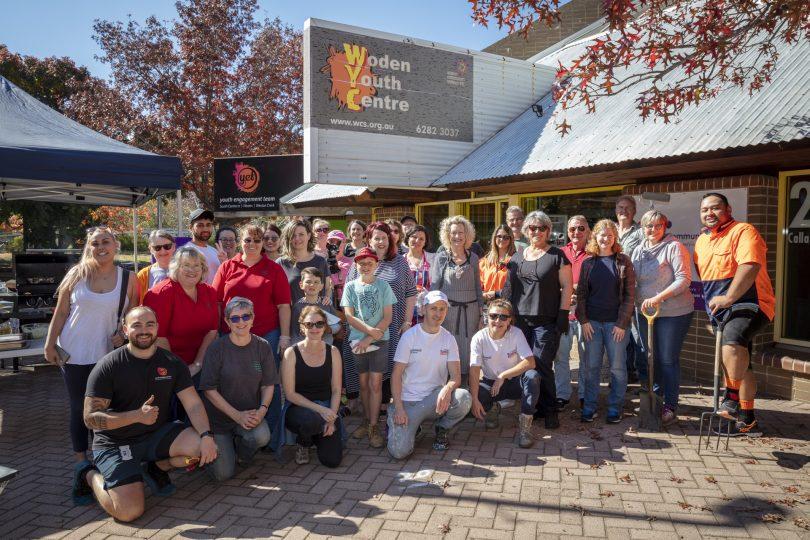 Woden Community Service staff outside Woden Youth Centre