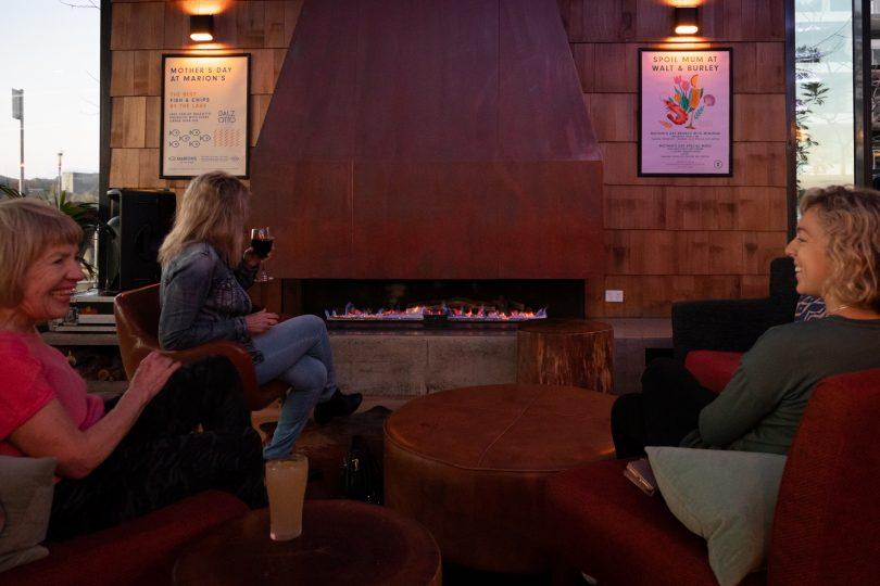Walt & Burley fireplace