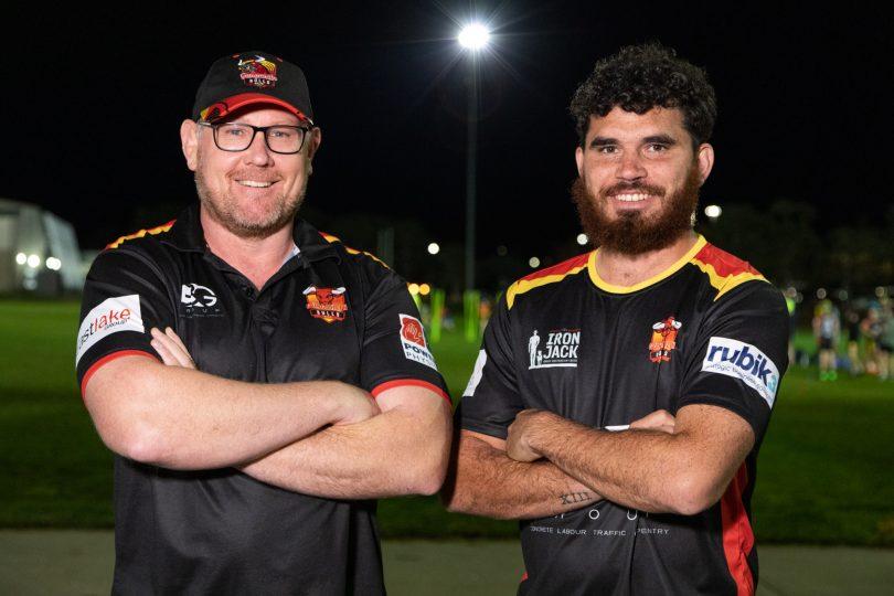 Neil Bijorac and Tre Holten-Williams from Gungahlin Bulls