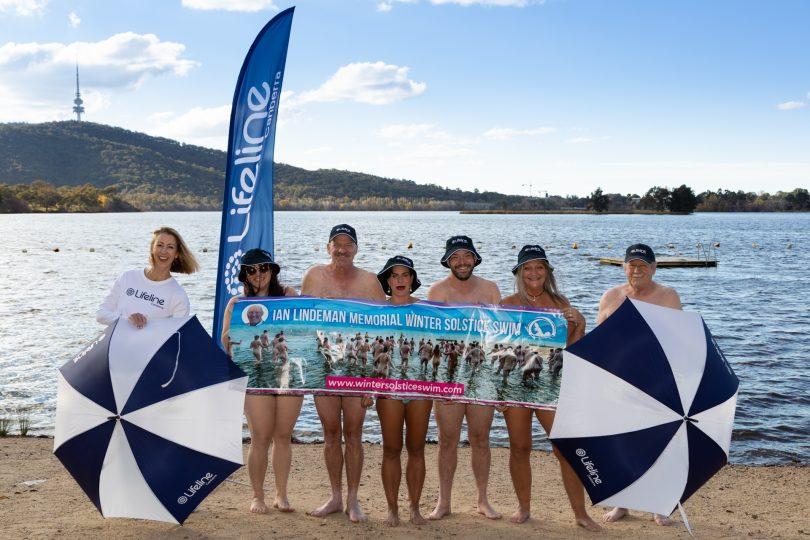 Ian Lindeman Memorial Winter Solstice swim launch at Lake Burley Griffin