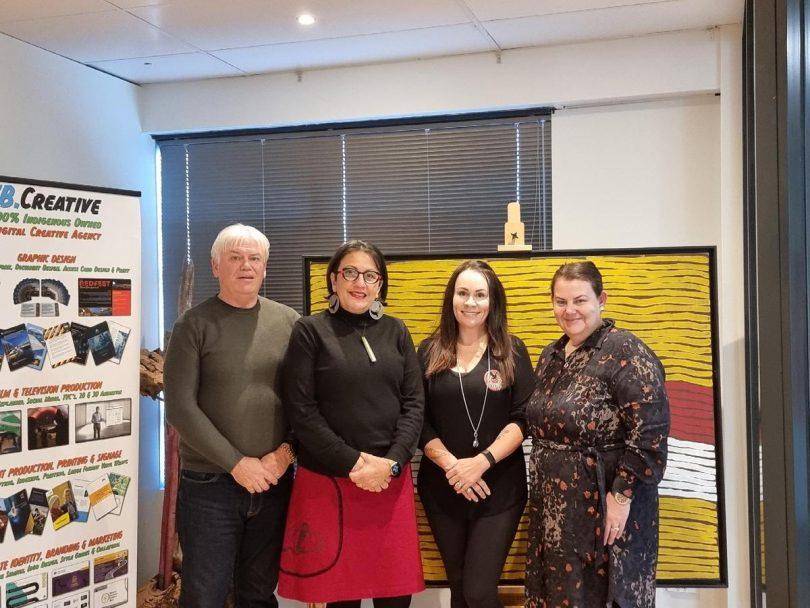 Craig Sams, Jo Kamira, Belinda Kendall and Rachelle Towart from Canberra Indigenous Business Network