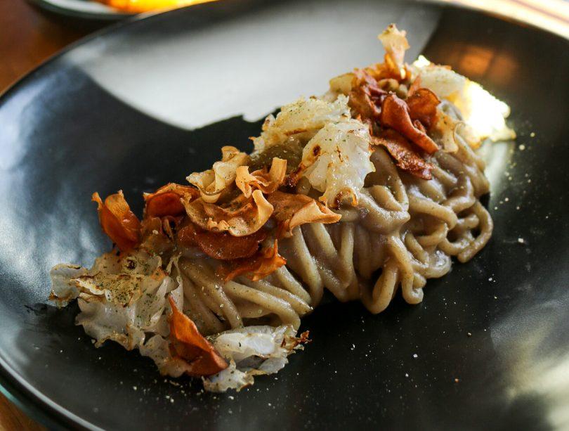 Spaghetti dish at Corella Bar and Restaurant