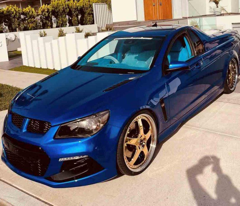 Blue Commodore ute