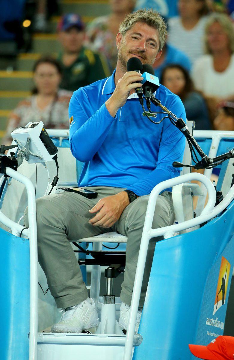John umpiring at the Australian Open