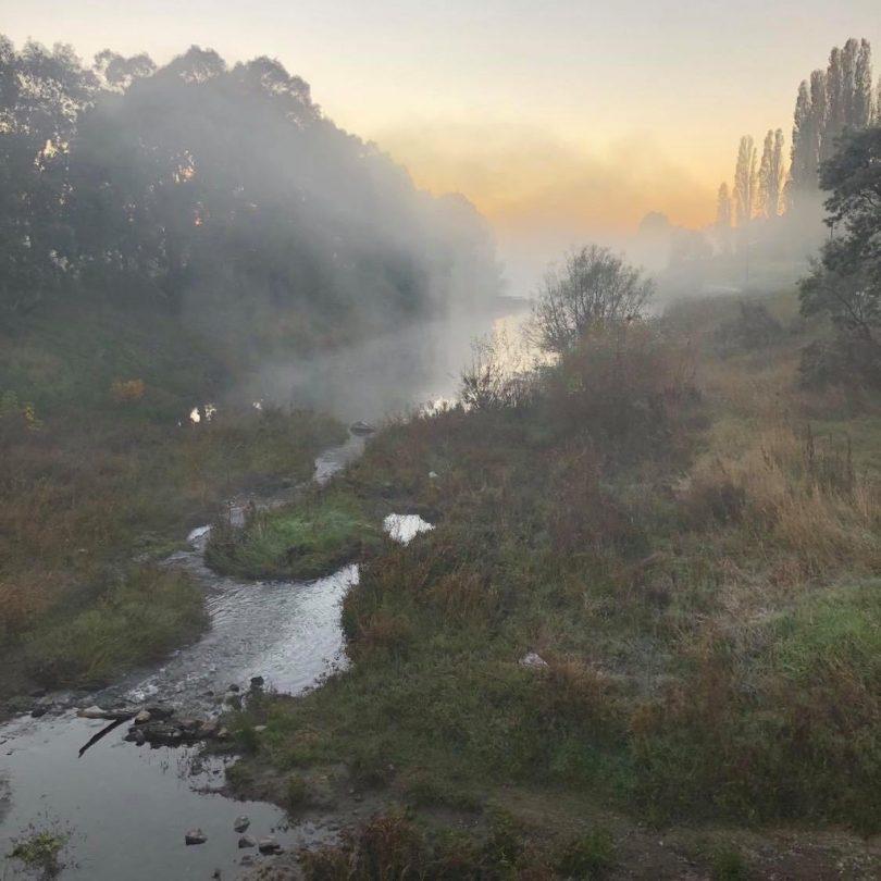 Morning fog over river in Goulburn