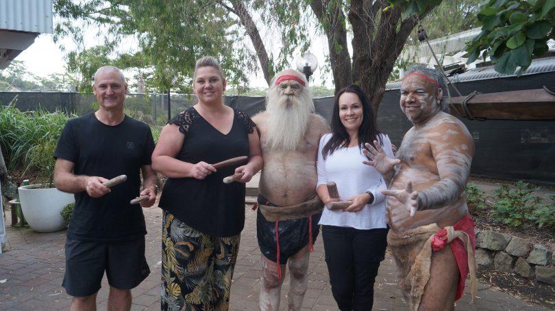 Curijo directors standing outdoors with two Aboriginal men