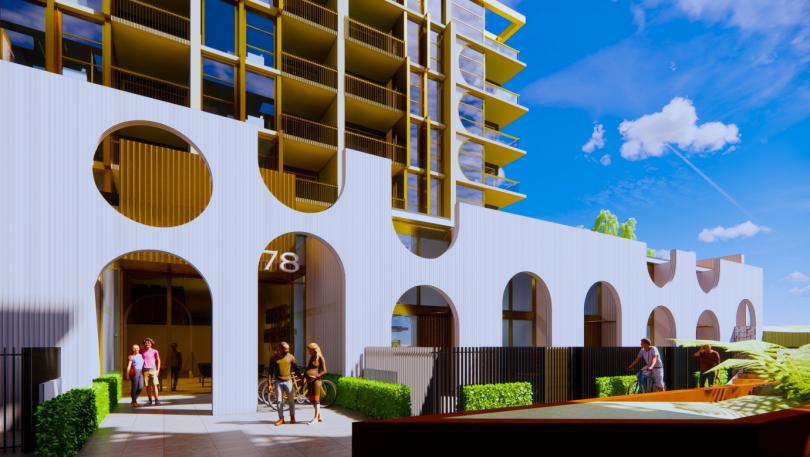 Denman prospect units facade arches