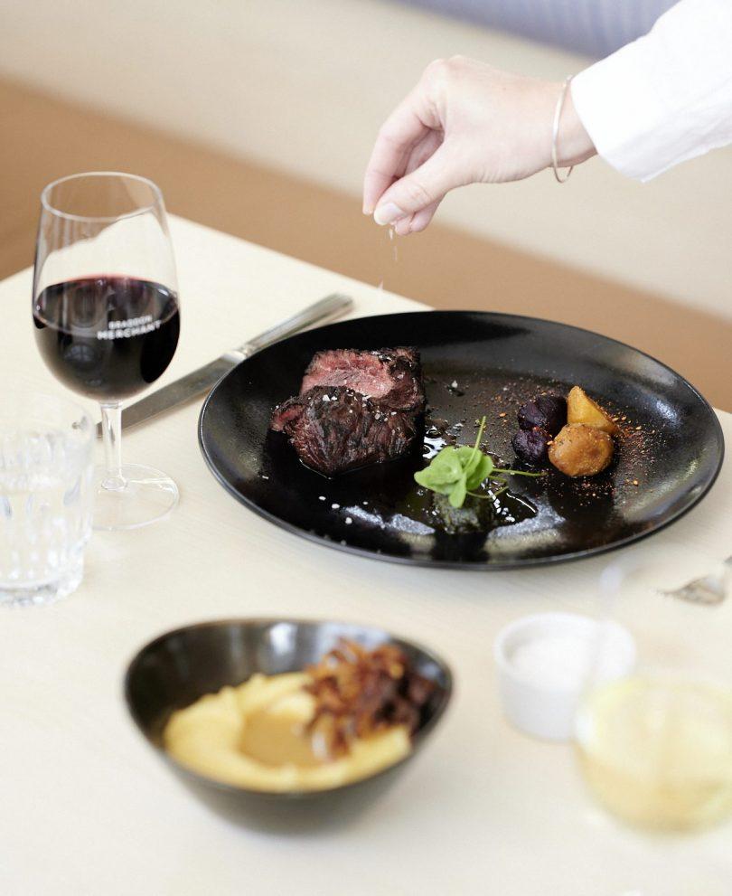 Grilled butchers' steak