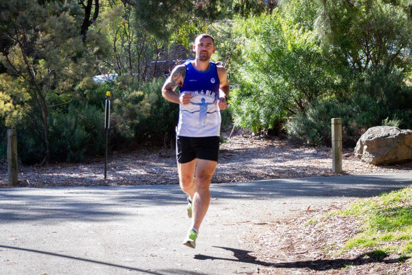Sgt Dave Reis running in Caberra