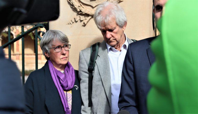 Barbara and Richard Eckersley leaving court in Goulburn