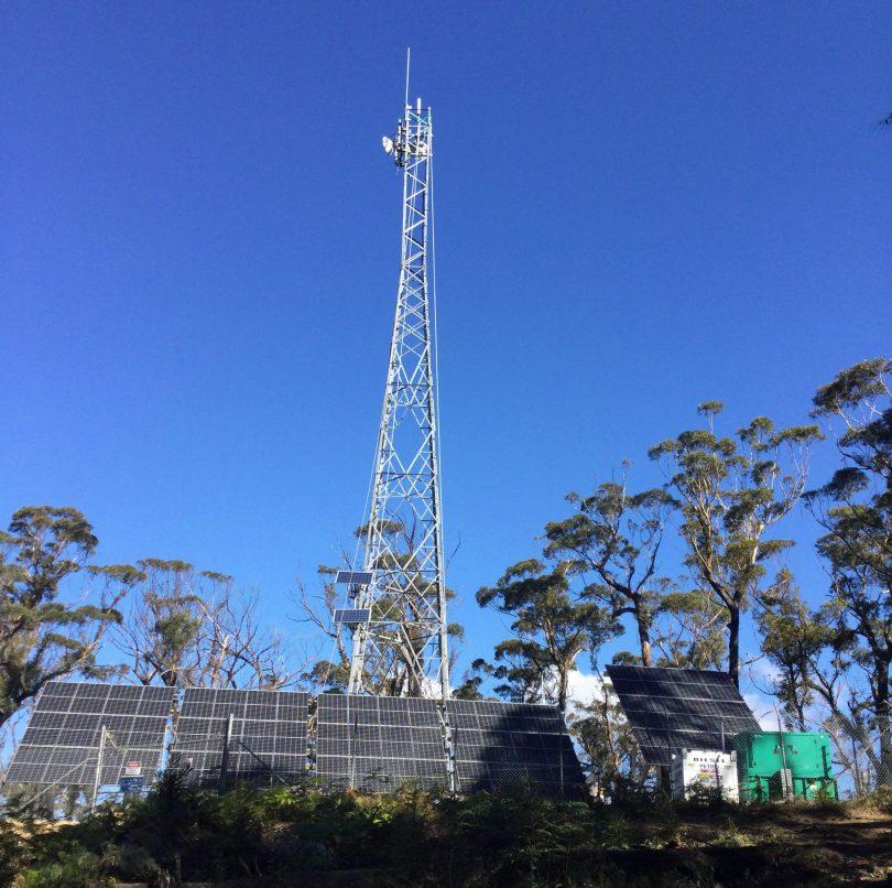 Telstra mobile base station at Buckenbowra