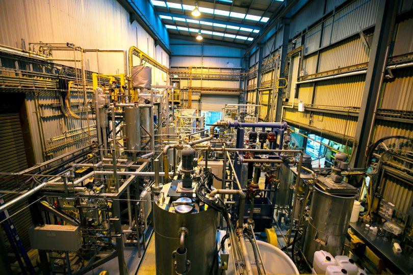 Interior of MCi carbon plant