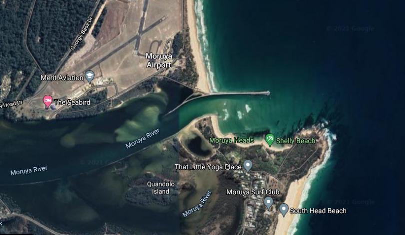 Moruya River bar