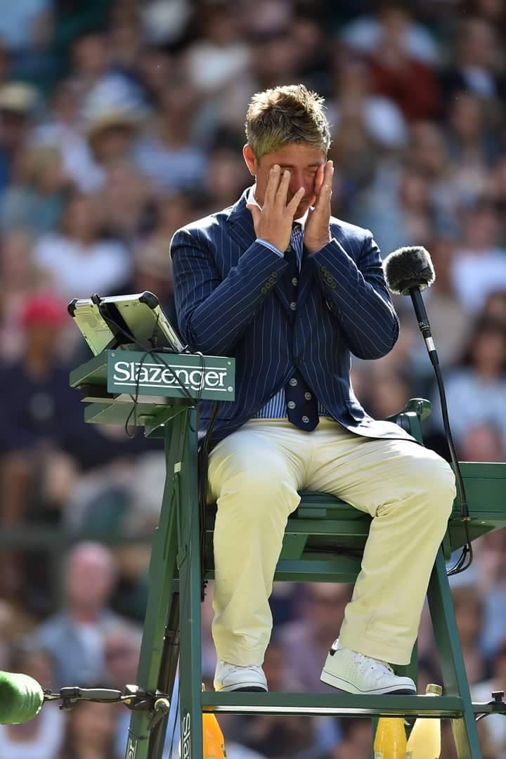 John at Wimbledon with hayfever