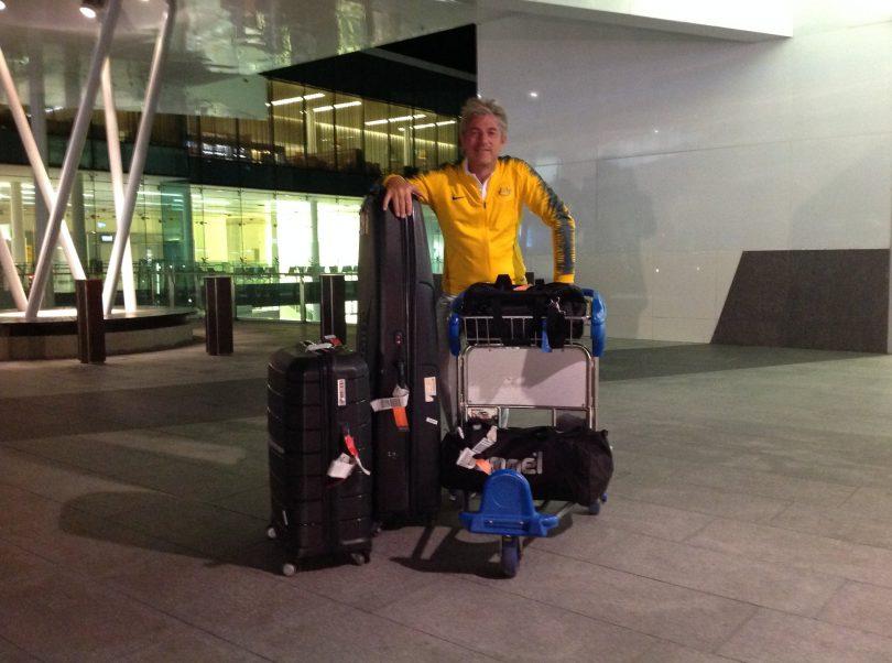 John Blom on his way to the Rio Olympics. Photo: Supplied.