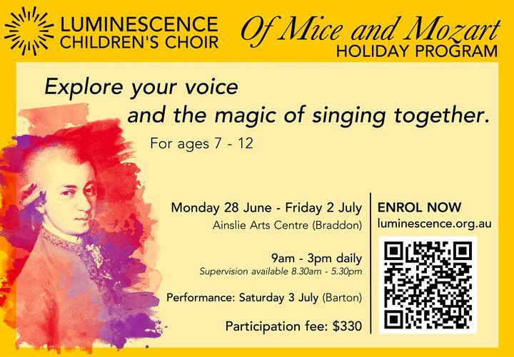 promo for singing workshop