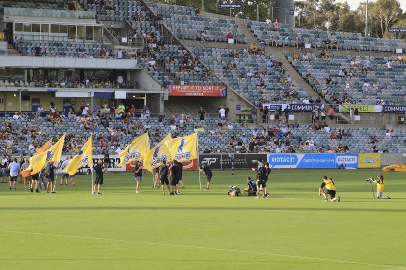 The Brumbies at Bruce Stadium