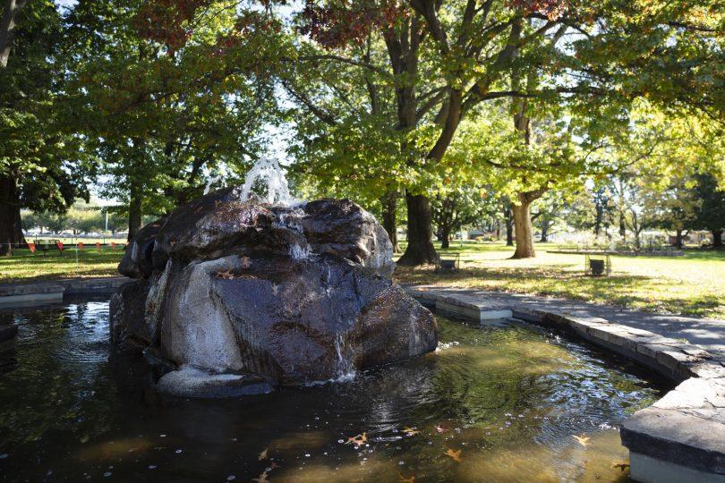 water fountain, Queanbeyan Park