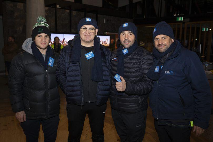 Domenic De Marco, Mirko Milic, Steve Ganitis and Joe Pratezina at Vinnies CEO Sleepout