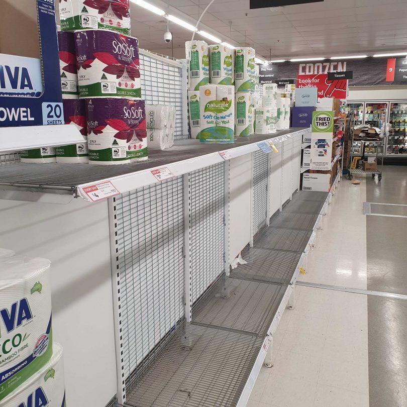 Toilet paper aisle