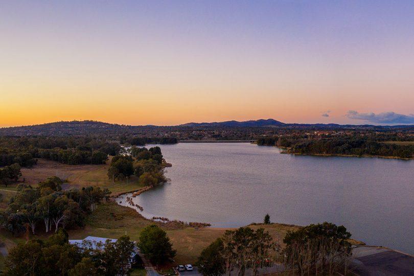 Lake views.