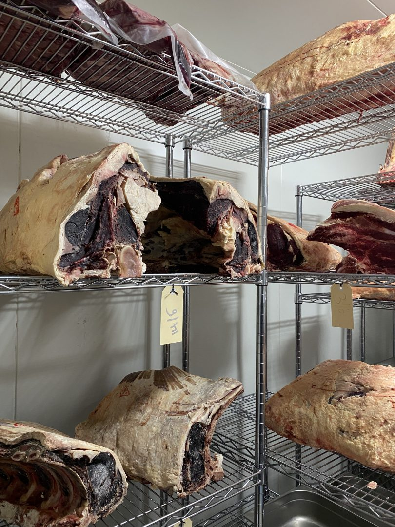 Ageing meat