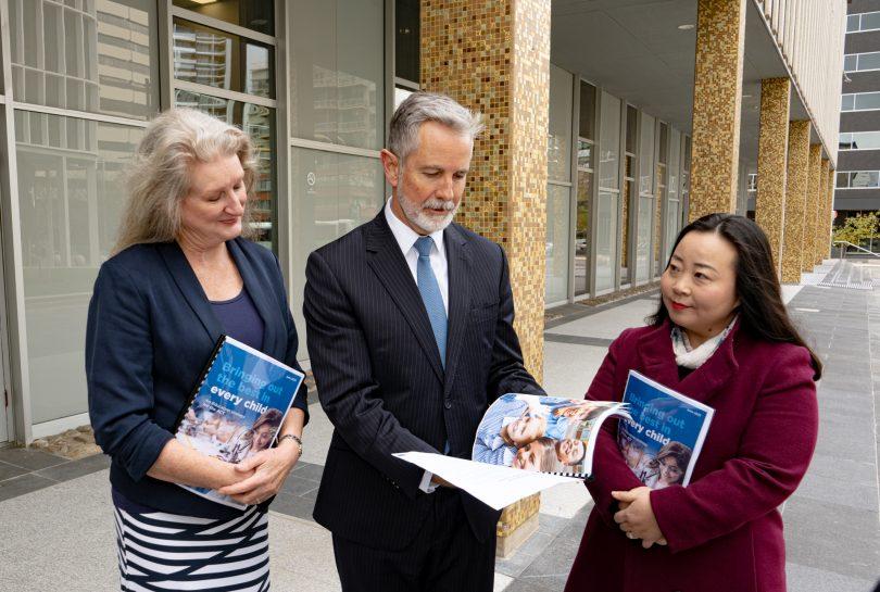 Dr Karen Macpherson, Jeremy Hanson and Elizabeth Lee