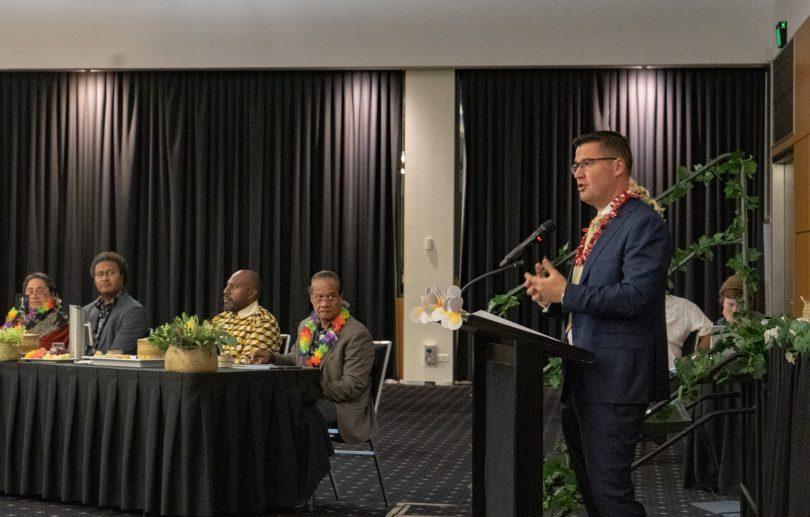 Zed Seselja addressing a conference about Kava regulation