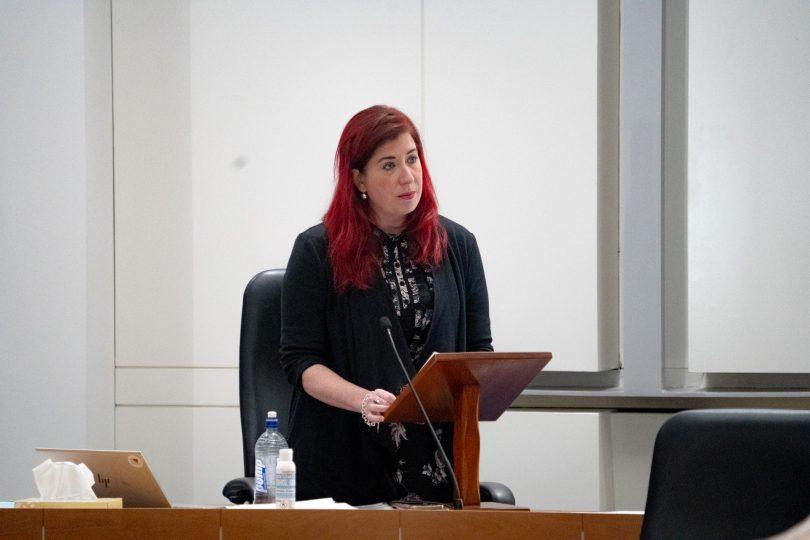Tara Cheyne addressing the Legislative Assembly