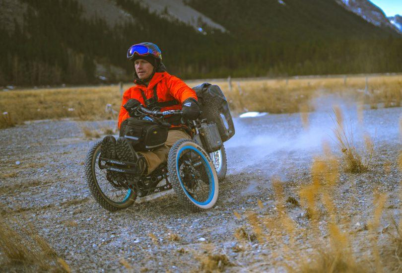 Person riding adaptive e-bike