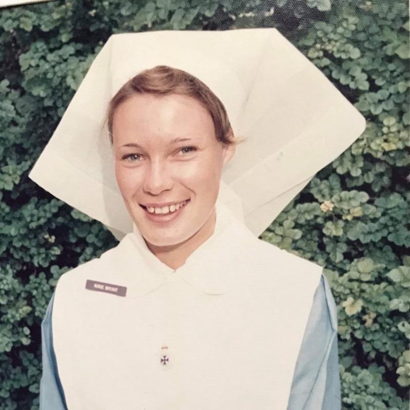 Di Green as a young nurse