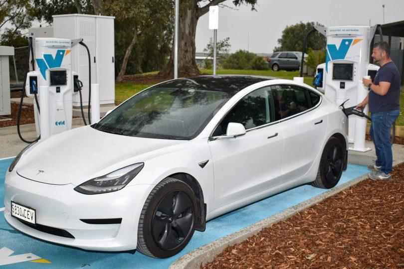 Evie ultrafast charging station