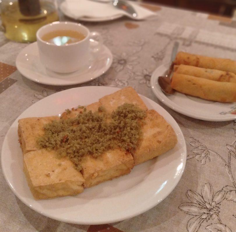 Fried Tofu with Lemongrass and chilli