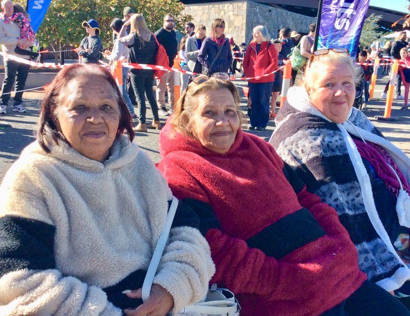 Aunty Coral King, Aunty Nancy and Aunty Kim Peters