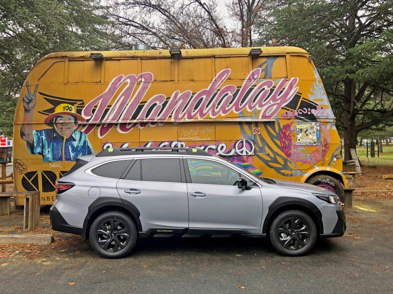 Subaru Outback and the Mandalay Bus