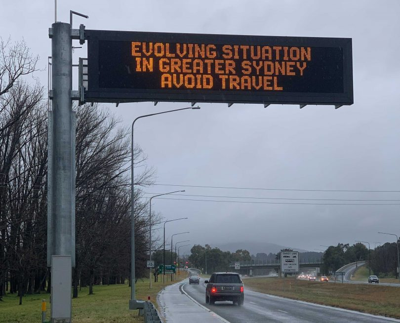 COVID-19 warning sign