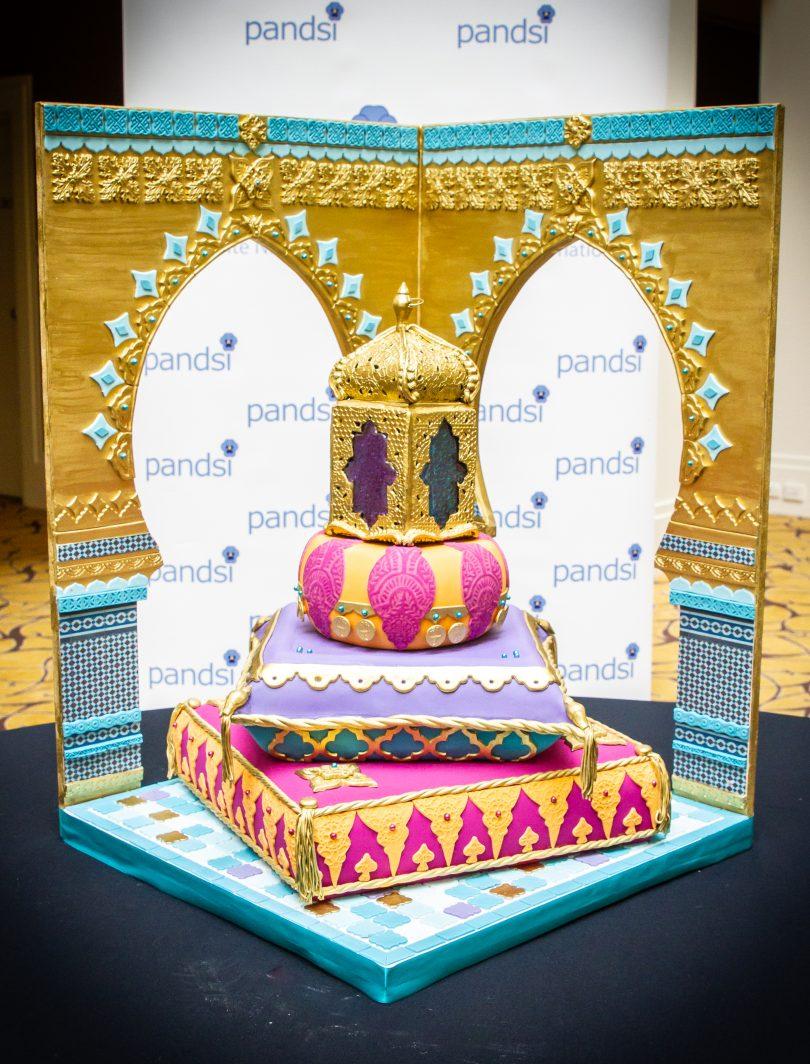 Indian-themed decorative cake