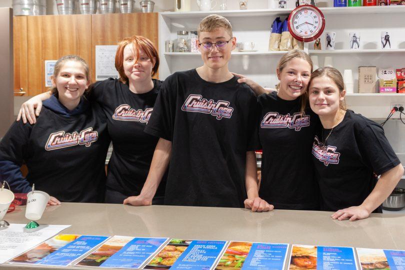 kids behind a counter