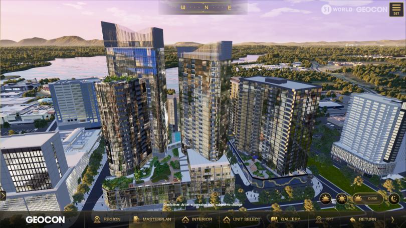 Screenshot of virtual Canberra