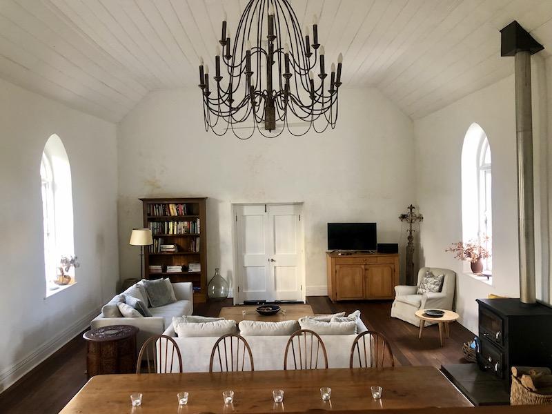 Interior of restored church-turned-home in Taralga