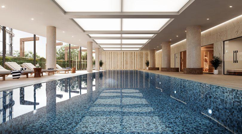 Resort-style lap pool.
