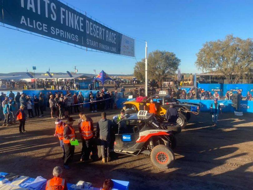 Fink Desert Race start line