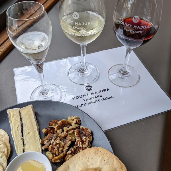 Truffle cheese and wine