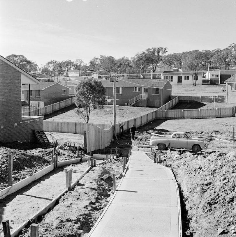 Homes being built in Aranda in 1968