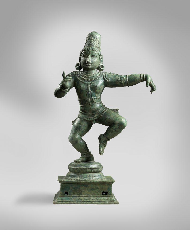 Indian statue of child saint Sambandar