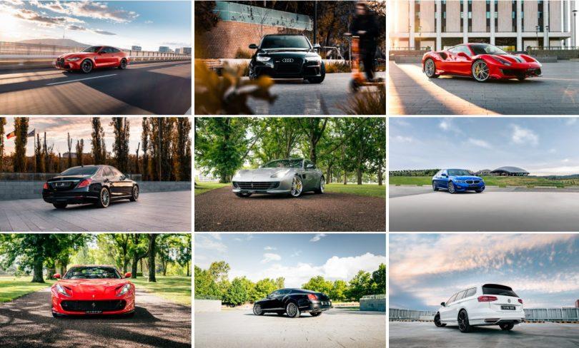 Collage of car photos