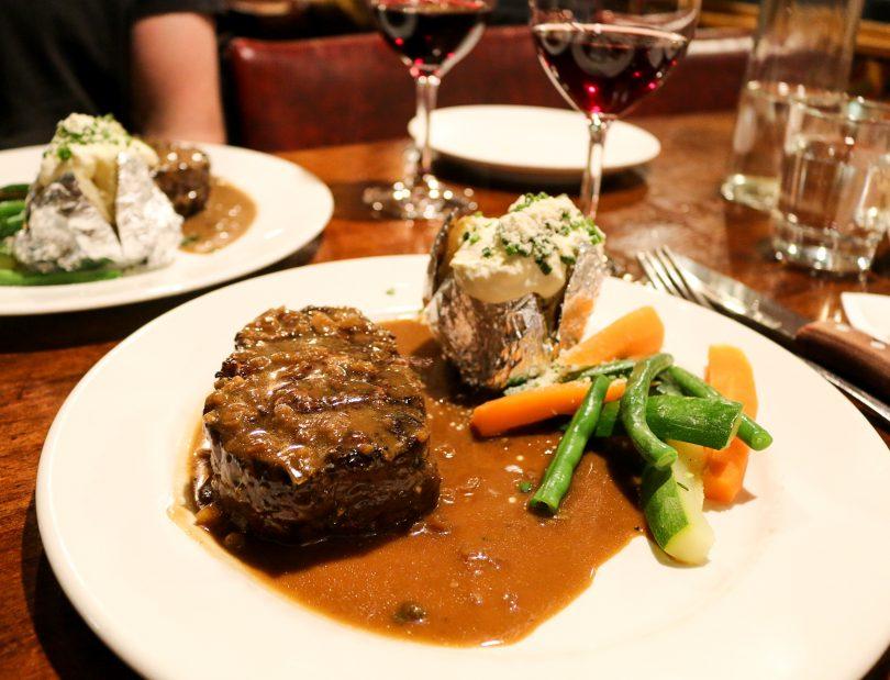 Steak at Charcoal Restaurant