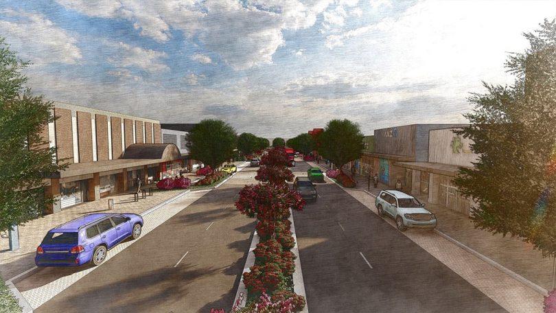 Artist's impression of upgraded Monaro Street in Queanbeyan
